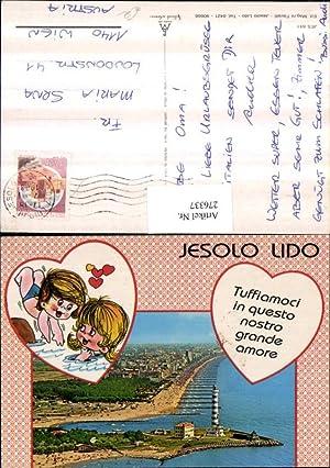 276337,Veneto Venezia Jesolo Lido Totale Strand Leuchtturm