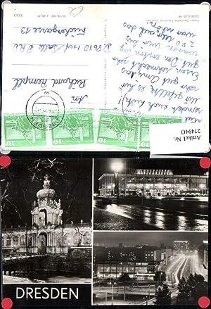 274940,Dresden Kulturpalast Zwinger Straße b. Nacht Mehrbildkarte