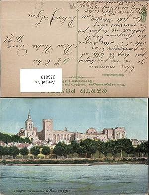 333819,Provence-Alpes-Cote-Azur Vaucluse Avignon Vue d'ensemble du Palais