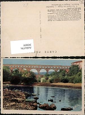 343854,Languedoc-Roussillon Gard Le Pont du Gard Aqueduc