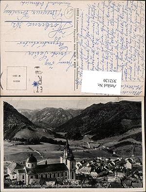 352120,Mariazell Teilansicht Kirche geg. Hochschwab Bergkulisse