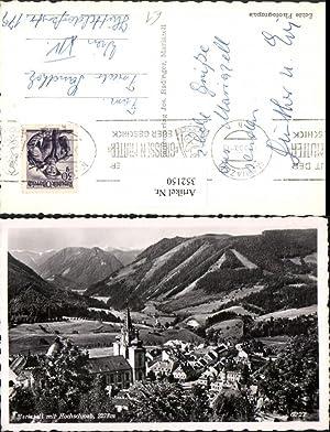 352150,Mariazell Totale Kirche m. Hochschwab Bergkulisse