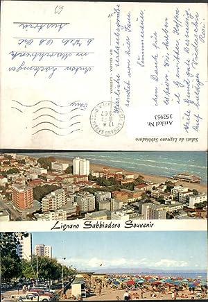 352953,Friuli-Venezia-Giulia Udine Lignano Sabbiadoro Teilansicht Strand Strandleben