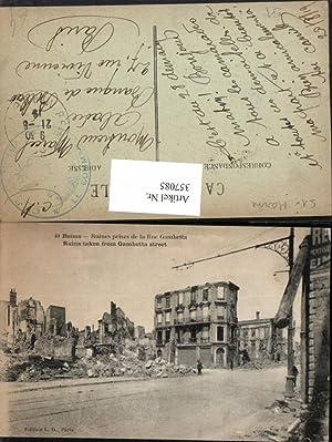 357085,Champagne-Ardenne Marne Reims Ruines prises de la