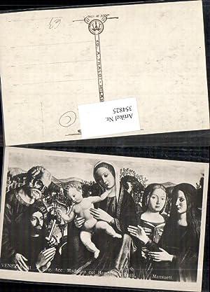354825,Künstler Ak Mansueti Madonna col Bambino e