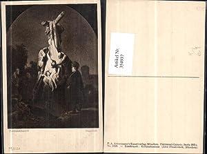 354937,Künstler Ak Rembrandt Kreuzabnahme Religion pub F.