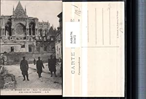 311672,Reims La cathedrale et les ruines de