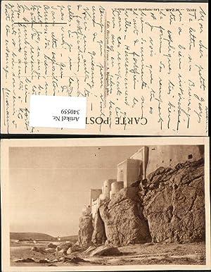 340559,M'zab Les remparts de Bounoura Stadtmauer Felsen
