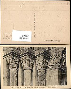 340952,Burgund Saone-et-Loire Autun La Cathedrale Portail Quest