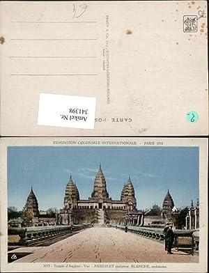 341398,Ile-de-France Paris Exposition Coloniale Internationale 1931 Temple