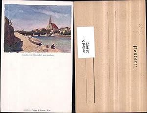 238982,Künstler Litho AK Laufen v. Oberndorf aus