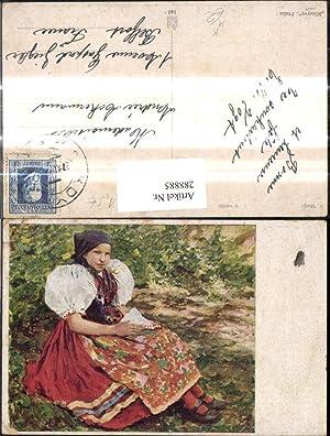 288885,Künstler Ak V. Maly V. nedeli Frau