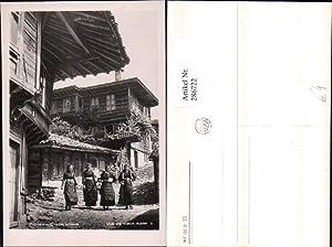 286722,Kotel Vue de vieux Häuser Frauen in