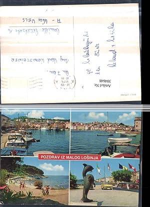 304648,Mali Losinj Lussinpiccolo Totale Strand Bucht Boote