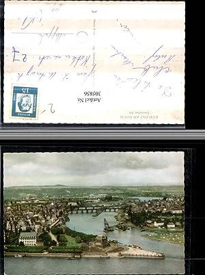 305856,Koblenz am Rhein Totale m. Deutschen Eck