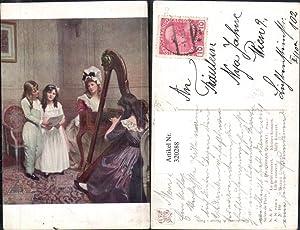 320288,Künstler Ak J. Philippar-Quinet Kleines Konzert Frau