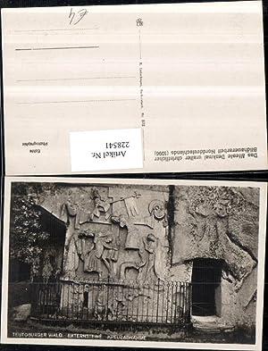 228541,Teutoburger Wald Externsteine Kreuzabnahme Relief