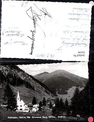 81696,Foto Ak Kalkstein Grumauer Berg Osttirol Kirche