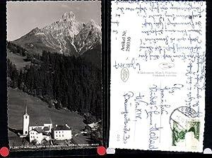 259310,Filzmoos im Pongau Kirche m. Bischofsmütze Bergkulisse