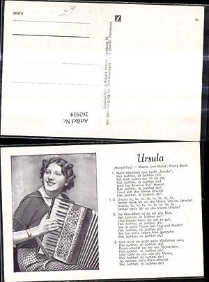 262939,Liedkarte Ursula Marschlied Harry Blum Worte Musik