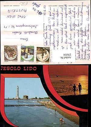 276331,Veneto Venezia Jesolo Lido Strand Leuchtturm Mehrbildkarte