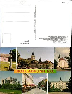 266672,Mehrbild Ak Hollabrunn Bildstock Hauptplatz Fußgängerzone Erzbischöfliches
