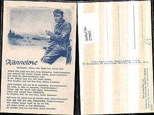 279921,Liedkarte Hannelore Marschlied von Herms Niel Soldat