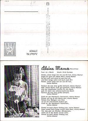 279929,Liedkarte Marschlied Kleine Mama von A. L.