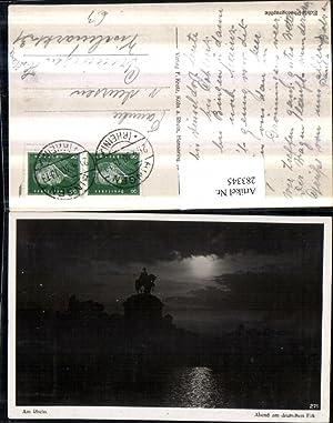 283345,Koblenz Abend am Deutschen Eck m. Kaiser