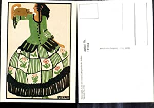 132004,Repro Jugendstil Maria Likarz Carte de vouex
