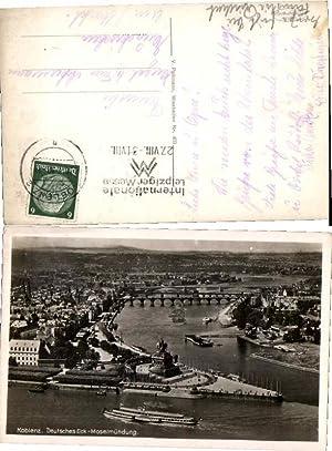 58480,Koblenz m. Dampfer am Deutsches Eck