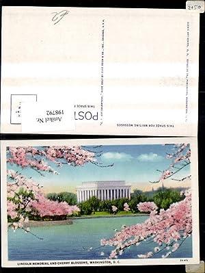 198792,Washington D. C. Lincoln Memorial and Cherry