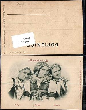 189567,Relief Präge AK Slovanske kroje Typen Slownien