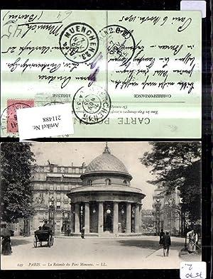 211488,Paris La Rotunde du Parc Monceau Kutsche