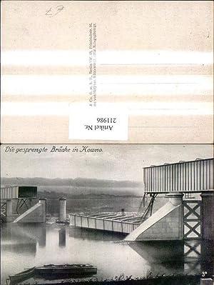 211986,Kowno Die gesprengte Brücke