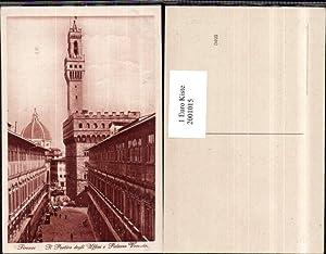 2001015,Firenze Florenz Il Portico degli Uffizi e