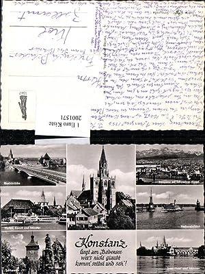 2001571,Konstanz Totale am Bodensee Münster Rheinbrücke Hafen