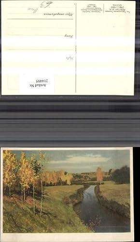 214495,Russische Künstler Ak Levitan Herbst Landschaft Russland