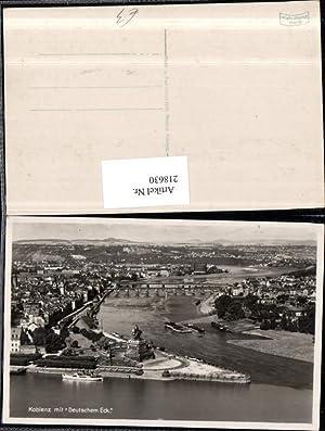 218630,Koblenz Totale m. Deutschem Eck