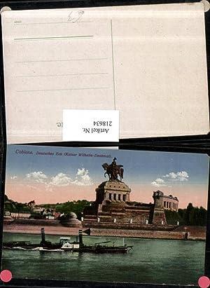 218634,Coblenz Koblenz Deutsches Eck m. Kaiser Wilhelm-Denkmal