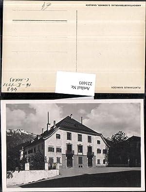 221693,Plantahaus Samaden Hausansicht Kt Graubünden
