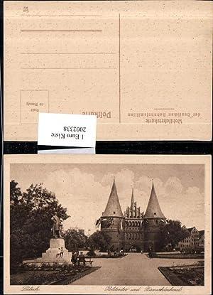 2002338,Lübeck Holstentor u. Bismarckdenkmal Denkmal