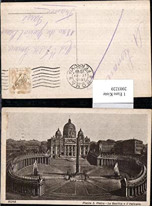 2003220,Rom Piazza San Pietro La Basilica e