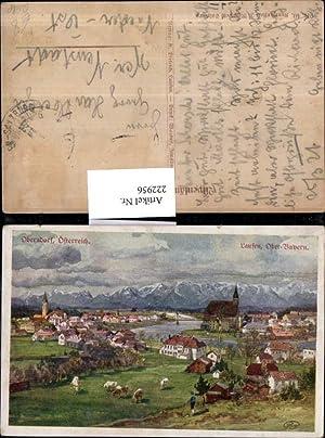 222956,Künstler AK Ruep Oberndorf b. Salzburg Totale