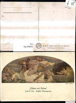 111,Künstler Ak Prof. Georgi Chiron m. Helena