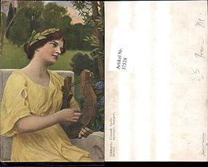 37528,Künstler Ak Seilfert Nachtigall Rossignol Frau m.