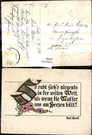 46598,Liedkarte Text Karl Gerok So ruht sichs