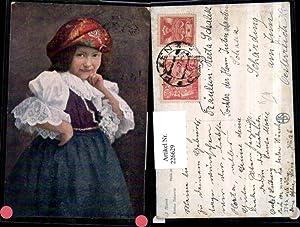 226629,Künstler AK J. Marek Kleine Bäurin Mädchen