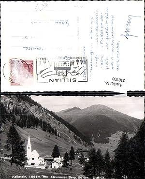 230700,Kalkstein Totale m. Grumauer Berg Kirche Bergkulisse