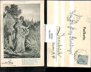 176250,Künstler AK sign. A. Zick fec. Gedicht